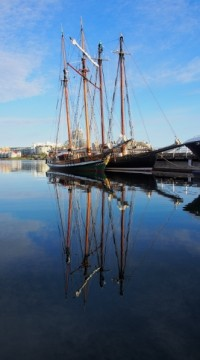 victoria schooner reflection