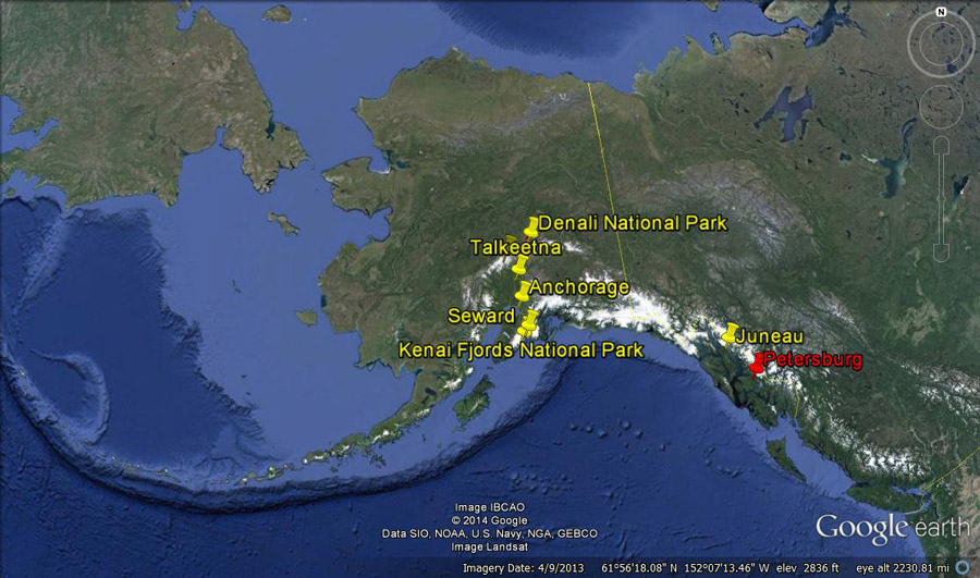 alaska map seward denali