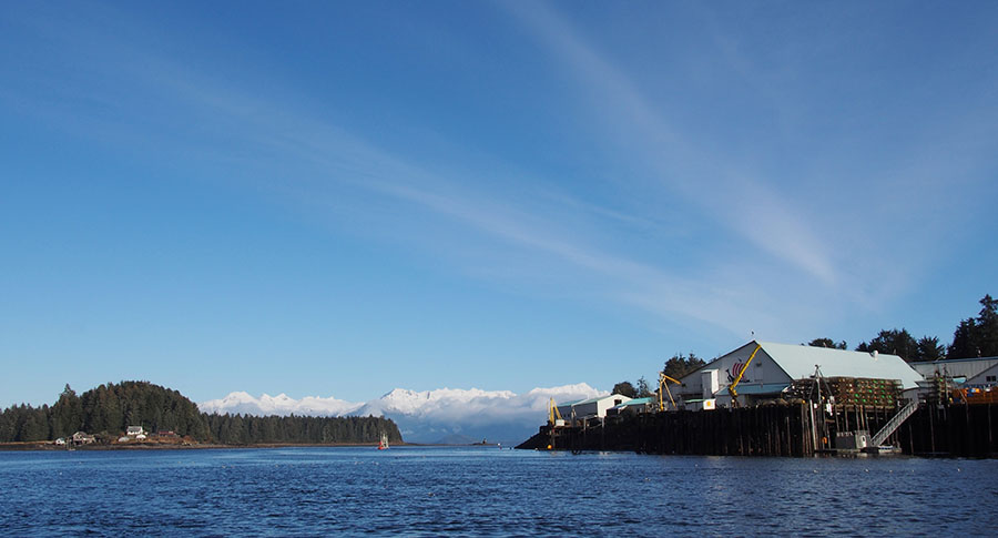 wrangell narrows looking north