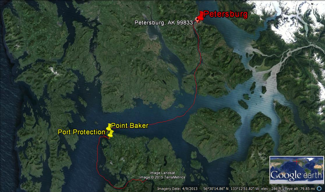 petersburg to point baker map
