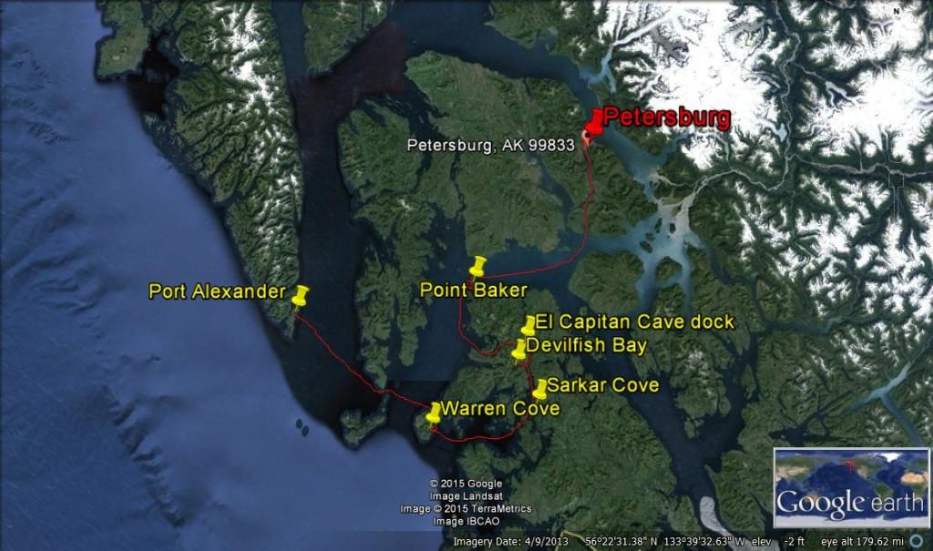 petersburg to port alexander map