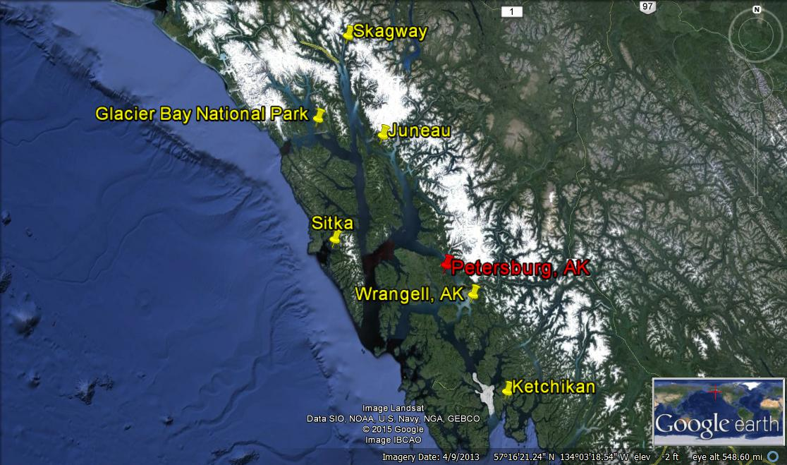 map southeast ketchikan to skagway