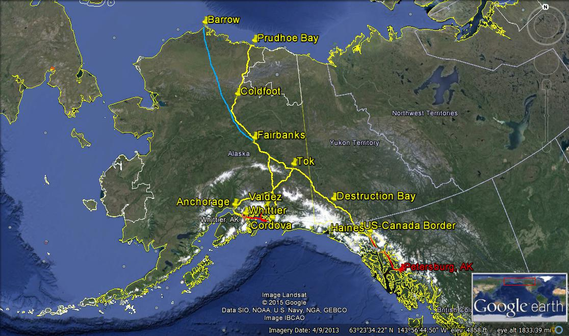 alaska map road trip overview 2