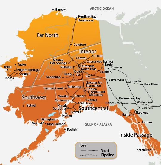 alaska road map 1