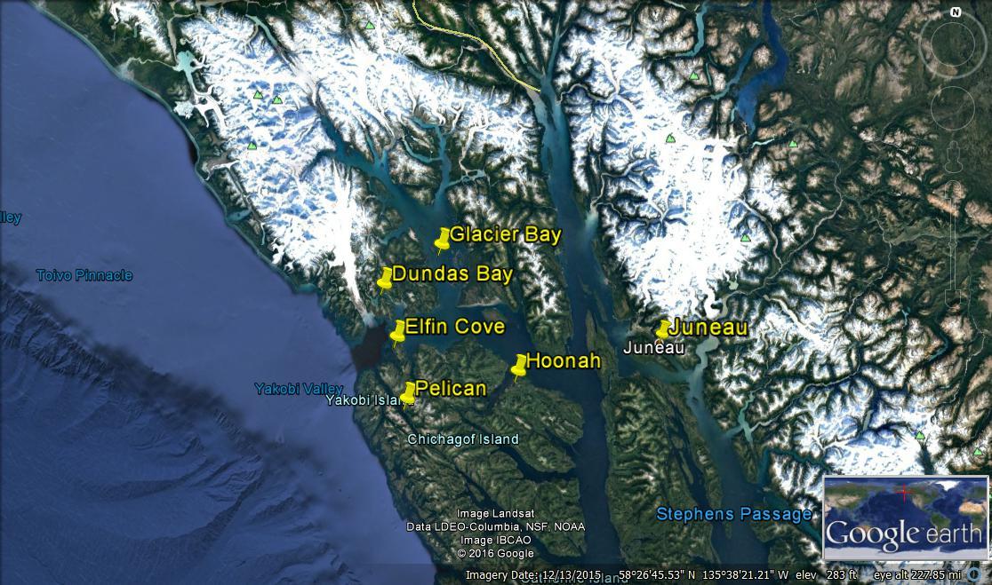 Map hoonah gbnp dundas elfin pelican